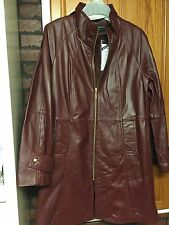 Centigrade Luxuriously Soft Lined Leather Coat;Burgundy Sz Med, New W Tags!