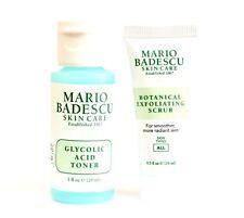MARIO BADESCU Botanical Exfoliating Scrub & Glycolic Toner SETof 2 NEW FREE SHIP