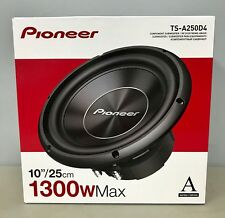 """Pioneer TS-A250D4 10"""" 1300 Watt Dual Voice Coil 4 Ohm Subwoofer BRAND NEW"""