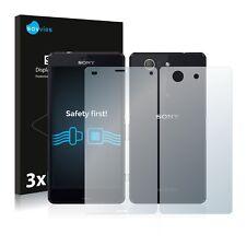 6x Displayschutzfolie Sony Xperia Z3 Compact D5803 (Vorder + Rückseite) Klar