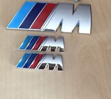 ///M Sport Small Emblem M Power Set (2x Wings +1x Boot Badge) Metal Chrome BMW