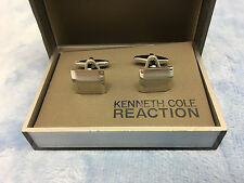 Kenneth Cole Reaction Slope Cuff Link , Silver