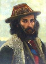 Bauer Portrait Gemälde Bild Öl auf Leinwand 19 Jh. Sammlungsauflösung
