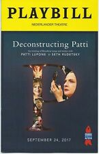 DECONSTRUCTING PATTI Playbill One Night Only Concert Patti LuPone Seth Rudetsky
