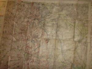 Geheim Stellungskarte LENS ARRAS 1918 Frankreich 1. WK
