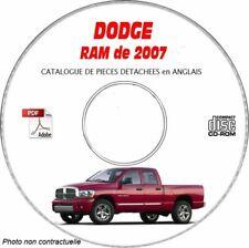 RAM 07 - Catalogue Pieces CDROM DODGE Anglais Expédition - 3 euros, Support - C