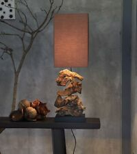 Treibholz Lampe HIGHLAND Stehlampe dunkel, Höhe ca. 48 cm, GI Design Leuchte NEU