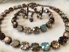 Swarovski Crystal Elements Multicolored Crystals In Antique Copper 8mm Jewelry