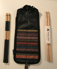 DRUMSTICK CASE WITH DRUM STICKS & HOT RODS GREAT GIFT FOR DRUMMER / DRUM KIT NEW