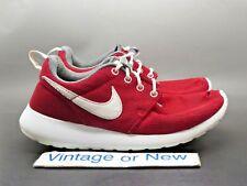 Nike Roshe One Gym Red White Dark Grey GS Running Shoes 599728-603 sz 4.5Y