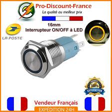 1 Bouton Poussoir Interrupteur LED ORANGE Métal 5v - 220V 5A Arduino Voiture 12v