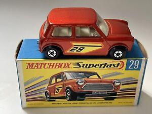 Matchbox Superfast #29 Racing Mini Mint
