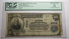 $10 1902 Blandinsville Illinois IL National Currency Bank Note Bill #8908 PCGS!
