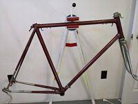 Vintage Jeunet Franche Comte lugged steel road bicycle frame fork Simplex 57cm