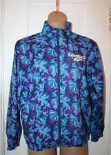 REEBOK Windbreaker Jacket Extra Large Womens Full Zip Floral Multi-Color Vintage