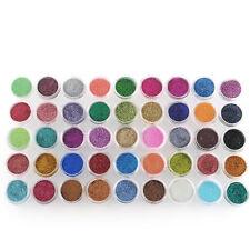 45Colors Nail Art Glitter Powder Dust Decoration kit For Acrylic Tips Uv Gel