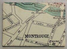 "Montrouge France Map Refrigerator Fridge Magnet 1.5"" x 2.5"" PreownedKitchen.com"