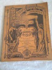 Vintage catalogue Door handles Hardware Maison Garnier price list 1923