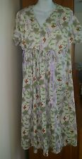 Maternity Nursing Organic Cotton Purple Floral Women's Gown Hot Mama S hospital