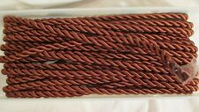 WRIGHTS BROWN TWIST BRAID FRINGE TRIM 13 YARDS NOS STORE SPOOL RAYON COTTON POLY
