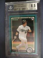 LOGAN MORRISON 2010 Bowman Draft Blue #64 BGS NM-MT+ 8.5 RC Marlins /399