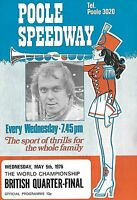 POOLE Speedway Programme>WORLD CHAMPIONSHIP British Quarter-Final May 1976