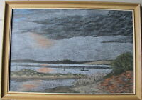 Alton Mort~listed artist~original painting~Tuggerah Lake, Central Coast, NSW~70s