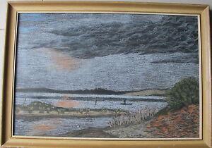 Alton Mort~listed artist~original painting~Tuggerah Lake, Central Coast, NSW~70s