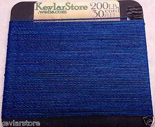 200lb test Kevlar Cord ~ 30ft Increments ~ Blue Coating ~ Free Shipping!