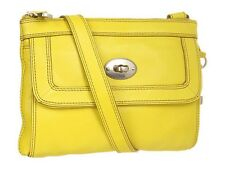 NWT $148 Fossil Marlow Leather Top Zip Crossbody Bag Purse Citrus