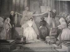 """L'HIVER à PARIS 1840 """" MARIAGE A SAINT ROCH  """""""