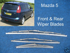 NEW Front & Rear Wiper Blades Mazda 5 2005 THROUGH TO 2012