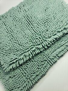 Bath Mats for Bathroom Non Slip Ultra Thick and Soft Chenille Plush Fl