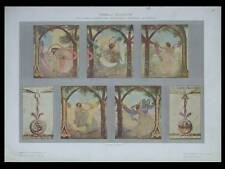 PANNEAU DECORATIF, CESARE LAURENTI -1910- RESTAURANT STORIONE PADOUE