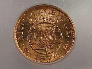 BU RED 1974 20 Centavos Mozambique ICG MS65 RD KM#88. #33