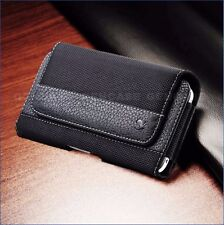 APPLE IPHONE 6 PLUS,  7 PLUS POUCH RUGGED LEATHER BELT CLIP HOLSTER CASE COVER
