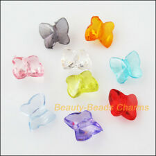 80 New Charms Acrylic Plastic Tiny Animal Butterfly Spacer Beads Mixed 9x10mm