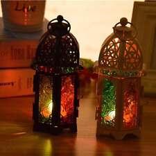Moroccan Lantern Metal Chandelier Tea Light or Votive Candle Holder White