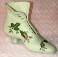 Vintage Hand Painted Artist Signed High Heel Shoe Boot Decorative Collectible