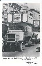 Postcard - Silver Queen buses in Colchester Essex c.1921 Pamlin Prints Croydon