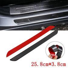 Car Real Kohlefaser 2Pcs Scuff Plate Door Abdeckung Ladekantenschutz Beschützer