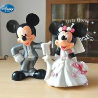 LOT DE 2 FIGURINES MICKEY MINNIE MARIÉS DISNEY JOUET DECORATION COLLECTION