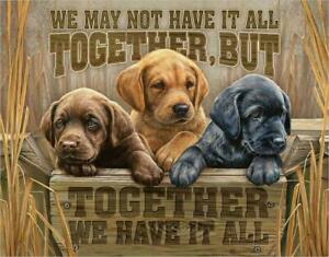 We Have It All Metal Tin Sign Puppies American Outdoor Cabin Decor Gift