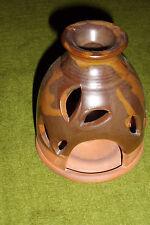 Messingständer für Aromaöl: unten das Teelicht, oben das Öl, Durchmesser ca.11cm