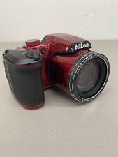Nikon COOLPIX B500 16.0MP Digital Camera - Red (Cracked Screen/Still Works)