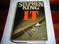 """""""FAIR-GOOD COND""""  IT by Stephen King (1986) 1ST EDITION HARDCOVER W/ DUST JACKET"""