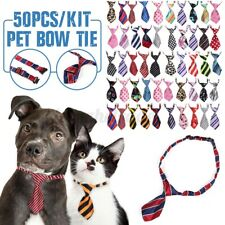50pcs Set Pet Dog Puppy Cat Necktie Necklace Bow Tie Collar Pet Adjustable NEW