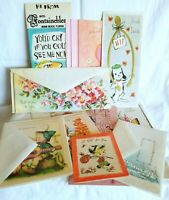 Vintage Greeting Cards Lot 15 Birthday Gift Card Bridal Circa 1970s 80s Ephemera