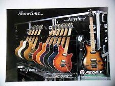 PUBLICITE-ADVERTISING :  Guitare PEAVEY Wolfgang 09/2001 Flight-Case E.Van Halen