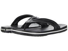 Women Crocs Crocband Flip Flop Sandal 206100-001 Black 100% Authentic Brand New